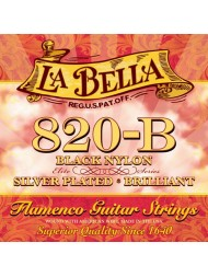 La Bella Elite Flamenco Black Nylon 820-B tension normale