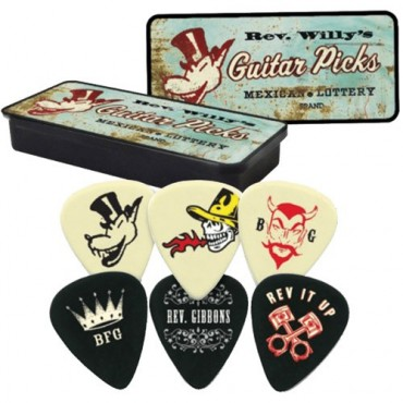 Dunlop médiators Rev Willy's Mexican Lottery RWT01L light