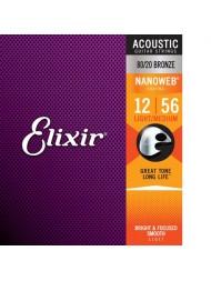 Elixir Acoustic NanoWeb Bronze 11077 medium light