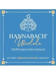 Hannabach Ukulélé Soprano/Concert Goldin Carbon 235MHT
