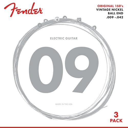 Fender Original 150's Pack 3 jeux 150L light
