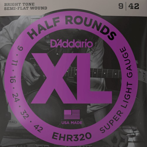 D'Addario Half Rounds EHR320 Tension super light