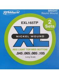 D'Addario EXL165TP Tension Regular Light Top / Medium Bottom (lot 2 jeux)