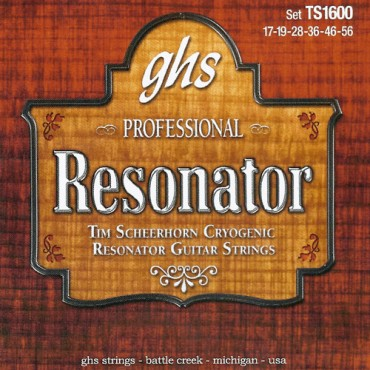 GHS résonator Signature Tim Scheerhorn TS1600