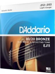 Jeu de cordes D'Addario EJ11 Light profil
