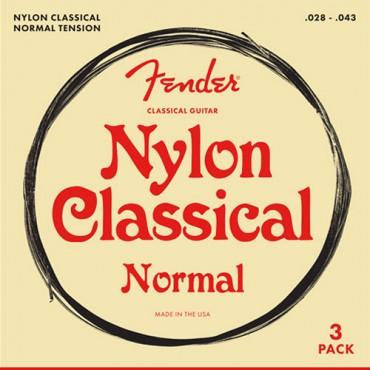 Fender Nylon Classical 100 normal - pack 3