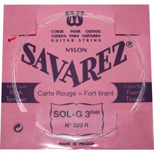 Savarez Carte Rouge SOL-3ème 523R tension forte - Pack 5