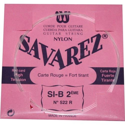 Savarez Carte Rouge SI-2ème 522R tension forte - Pack 5