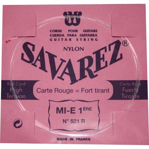 Savarez Carte Rouge MI-1ère 521R tension forte - Pack 5