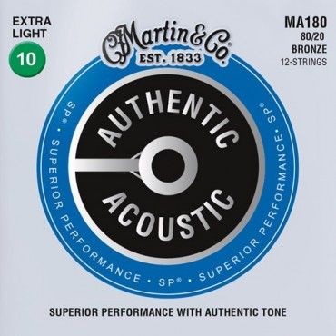 Martin Authentic SP 12 cordes MA180 extra light