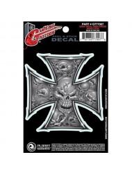 Planet Waves Tattoo Gray Skull Iron Cross GT77007