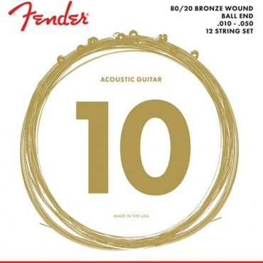 Fender acoustic bronze guitare 12 cordes 70-12L light