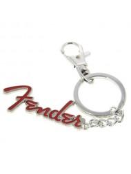 Fender Porte-clés logo rouge
