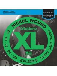 D'Addario EXL220-5 Tension super light