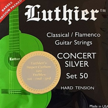 Luthier Concert Silver Super Carbon LU-50-CT hard tension