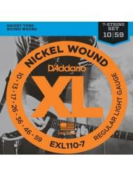D'Addario EXL110-7 Tension Regular light
