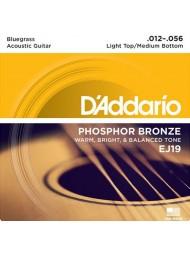 D'Addario EJ19 tension light top medium bottom